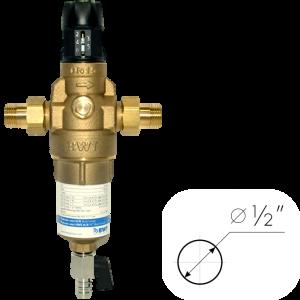 """Фильтр для горячей воды с прямой промывкой и редуктором давления BWT Protector mini H/R HWS ½"""""""