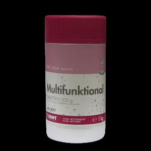 Многофункциональный препарат для дезинфекции бассейна BWT AQA Marin Multifunktional Tabletten 200 гр, 1 кг.