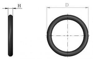 Кольцо D10 БЦПЭУ 0.3