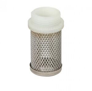 Фильтр сетчатый Ду 15 Бугатти, приемный, из нержавеющей стали, для обратных клапанов типа EURO, Bugatti
