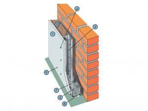 Однослойная облицовка из КНАУФ-листов на металлическом каркасе С 625