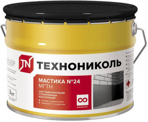 Мастика гидроизоляционная ТехноНИКОЛЬ №24 3 кг