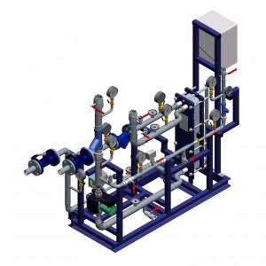 Блочный тепловой пункт (БТП) WaterLine (WL) Ридан - Блок системы отопления