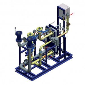 Блочный тепловой пункт (БТП) WaterLine (WL) Ридан - Блок ГВС (1-ступенчатая параллельная схема ГВС)