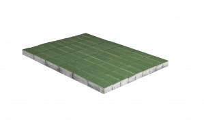 Тротуарная плитка Браер ПРЯМОУГОЛЬНИК  «Зеленый» 10,8 м²