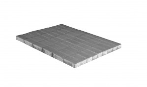 Тротуарная плитка Браер ПРЯМОУГОЛЬНИК  «Серый» однослойный 12,96 м²