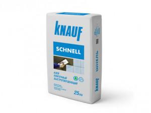 Клей плиточный быстротвердеющий КНАУФ-Шнель