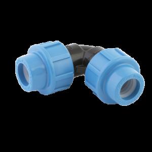 Отвод 20/90, компрессионный фитинг Джилекс