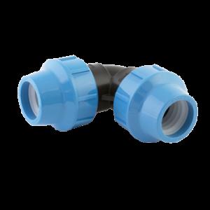 Отвод 40/90, компрессионный фитинг Джилекс