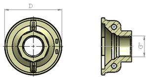 Латунная крышка насоса БЦПЭ 0,3