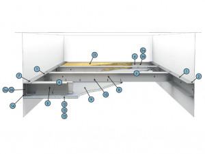 Самонесущий подвесной потолок из КНАУФ-листов (КНАУФ-суперлистов) на одинарном каркасе П 131 (П 231)