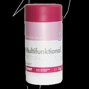 Многофункциональный препарат для дезинфекции бассейна BWT AQA Marin Multifunktional Tabletten 20 гр, 1 кг.