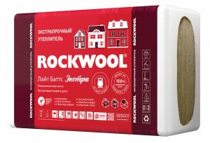 Каменная вата ROCKWOOL Лайт Баттс ЭКСТРА 1000 х 600 х 50 мм 8 штук в упаковке