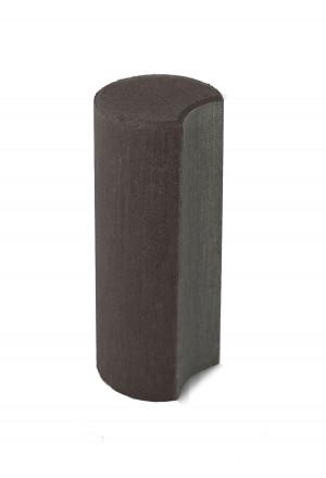 Бетонный столбик Браер «Палисад» коричневый
