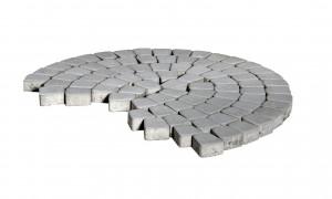 Тротуарная плитка Браер КЛАССИКО КРУГОВАЯ  «Серый» 11,4 м²