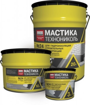 Мастика гидроизоляционная ТехноНИКОЛЬ №24 10 кг