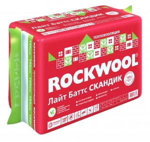 Каменная вата ROCKWOOL ЛАЙТ БАТТС СКАНДИК 800 х 600 х 100 мм 6 штук в упаковке