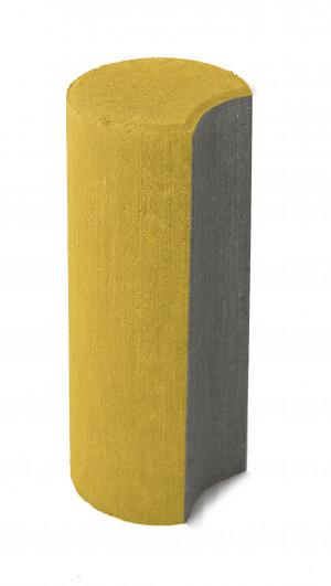 Бетонный столбик Браер «Палисад» жёлтый