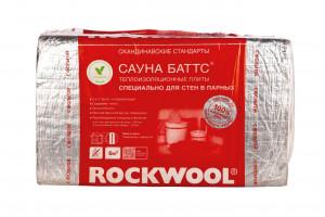 Каменная вата ROCKWOOL САУНА БАТТС 1000 х 600 х 50 мм 8 штук в упаковке