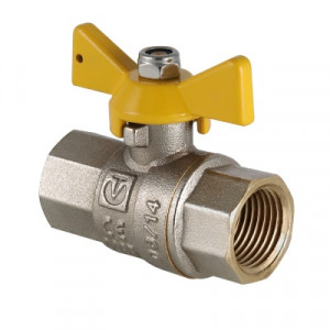 Кран шаровой для газа Валтек Valgas VT.277.N, Ду 20, Valtec
