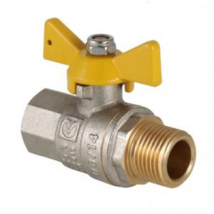 Кран шаровой для газа Валтек Valgas VT.278.N, Ду 20, Valtec
