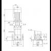 Габариты вертикального многоступенчатого центробежного насоса CRN 90-5-2 HQQE Grundfos
