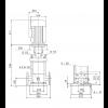 Габариты вертикального многоступенчатого центробежного насоса CRN 120-1 HQQV Grundfos