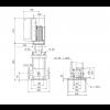 Габариты вертикального многоступенчатого центробежного насоса CRE 3-17 HQQE Grundfos