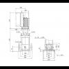 Габариты вертикального многоступенчатого центробежного насоса CRE 5-2 HQQE Grundfos