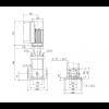 Габариты вертикального многоступенчатого центробежного насоса CRE 5-5 HQQE Grundfos