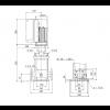 Габариты вертикального многоступенчатого центробежного насоса CRE 5-24 HQQE Grundfos