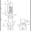 Габариты вертикального многоступенчатого центробежного насоса CRE 1-9 HQQE Grundfos