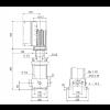 Габариты вертикального многоступенчатого центробежного насоса CRE 10-5 HQQE Grundfos