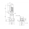 Габариты вертикального многоступенчатого центробежного насоса CRE 10-6 HQQE Grundfos