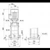 Габариты вертикального многоступенчатого центробежного насоса CRT 4-16 AUUE Grundfos