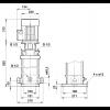 Габариты вертикального многоступенчатого центробежного насоса CRT 4-22 AUUE Grundfos