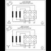 Схема подключения вертикального многоступенчатого центробежного насоса CRT 2-13 AUUE Grundfos