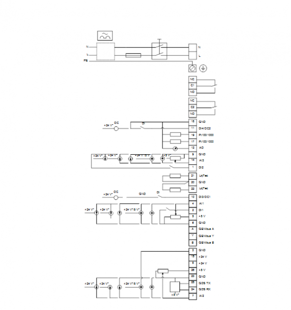 Схема подключения вертикального многоступенчатого центробежного насоса CRE 5-5 HQQE Grundfos