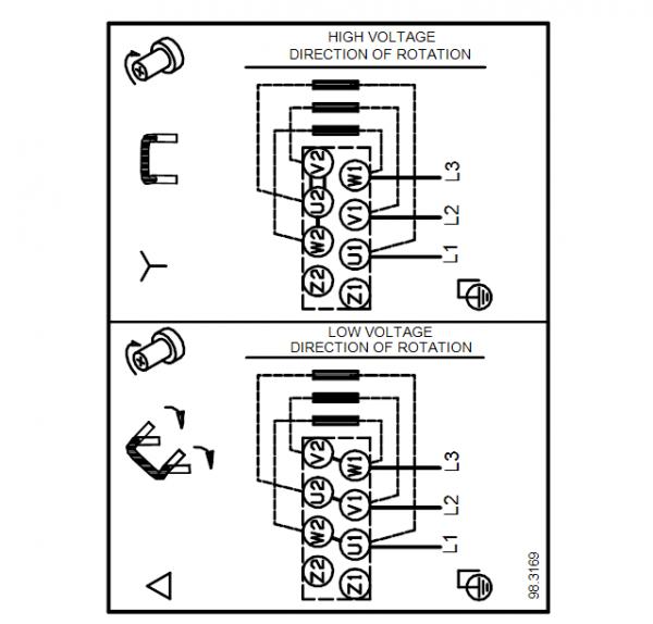 Схема подключения вертикального многоступенчатого центробежного насоса CRT 2-2 AUUE Grundfos