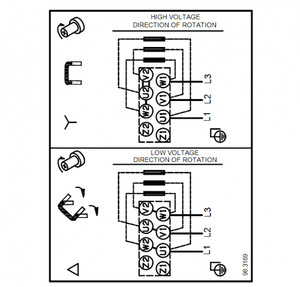 Схема подключения вертикального многоступенчатого центробежного насоса CRT 2-3 AUUE Grundfos