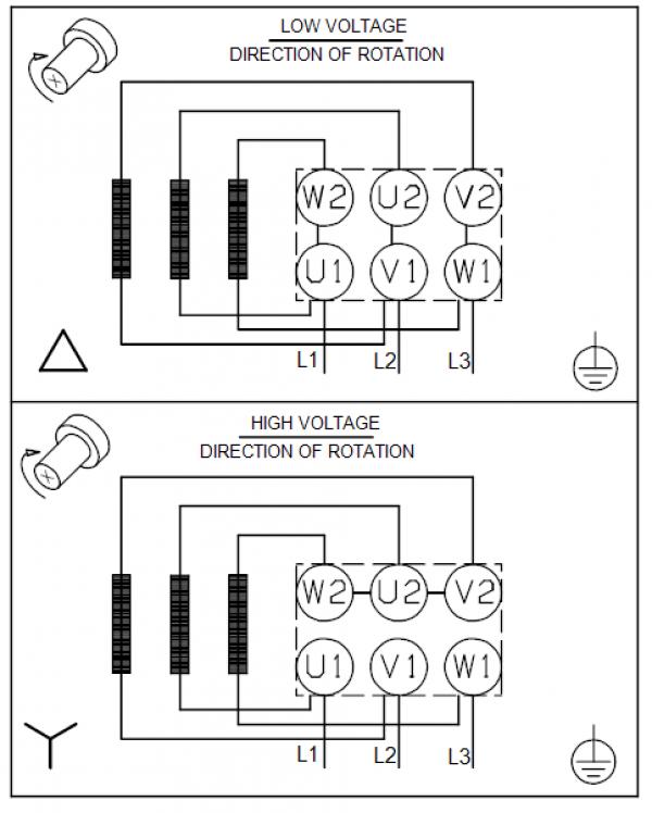 Схема подключения вертикального многоступенчатого центробежного насоса CRT 4-8 AUUE Grundfos
