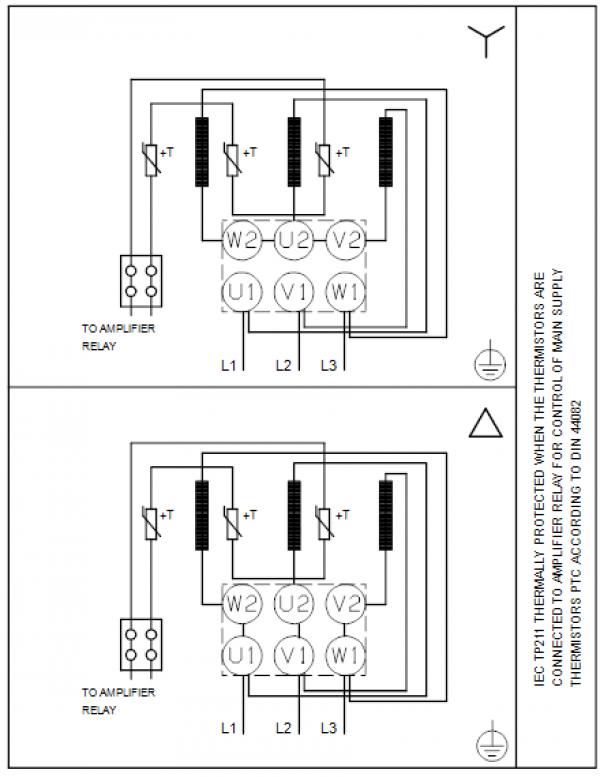 Схема подключения вертикального многоступенчатого центробежного насоса CRT 4-22 AUUE Grundfos