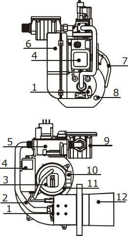Конструкция горелки Kiturami TGB-30