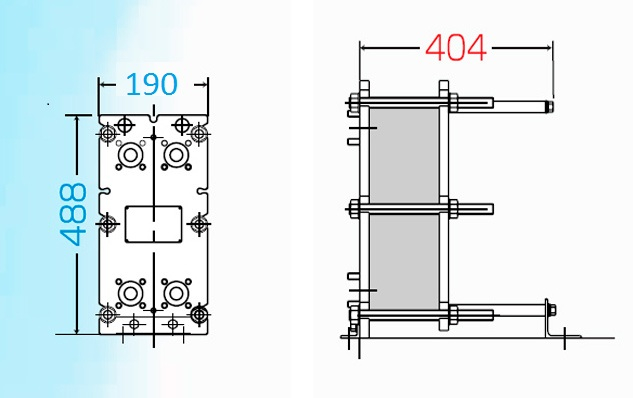 Теплообменник пластинчатый разборный Анвитэк АMХ-30-15