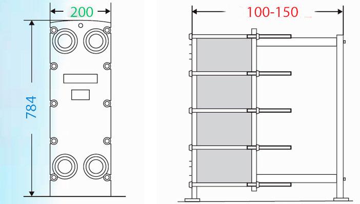Теплообменник пластинчатый разборный Анвитэк АMХ-40-07