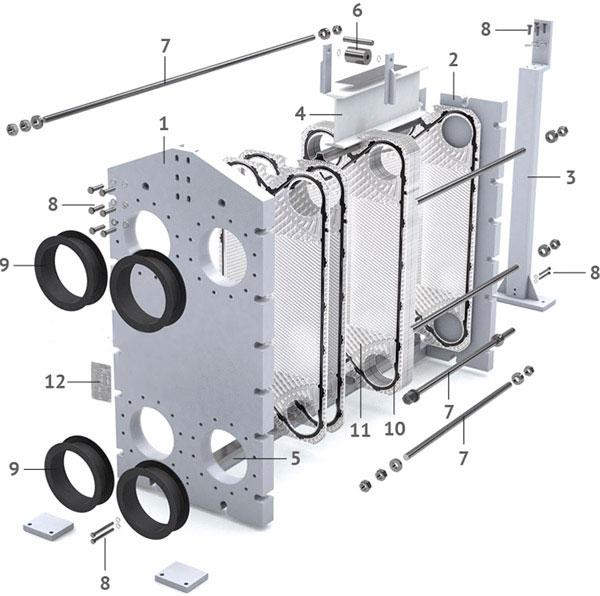 Теплообменник пластинчатый разборный Анвитэк АMХ-60-41