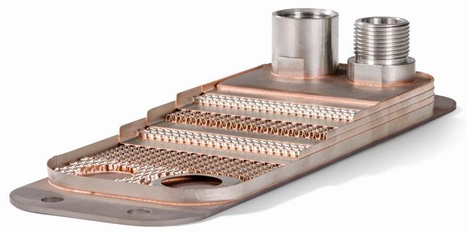 Конструкция паяного пластинчатого теплообменника GPL 3-10 Функе